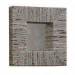 Recycled Newspaper Square Mirror by Linon Home