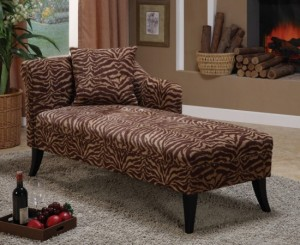Tiger Print Chaise Lounge ...