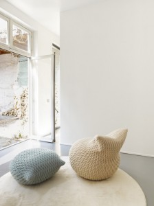 Slumber Poufs. Designed by Aleksandra Gaca. Manufactured by Casalis.