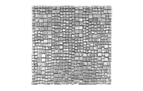 Fractal Silver tile. Manufactured by Soli.