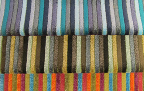 Chantal Stripe. Designed and manufactured by Yoma Textiles.